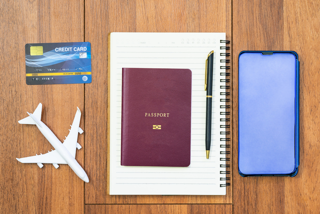 Airplane by passport