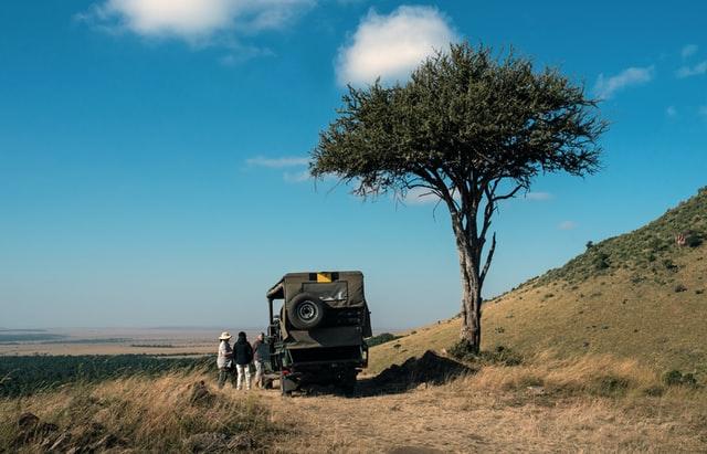 travelers in Masai Mara