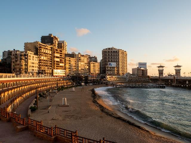 beach in Alexandria, Egypt