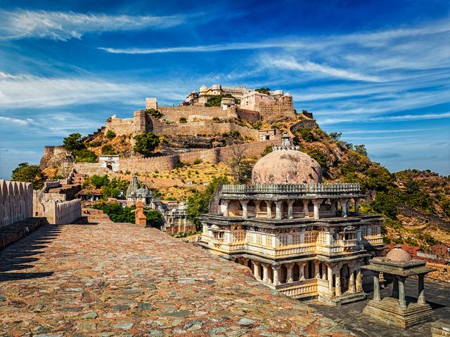 Kumbhalgarh fort tourist landmark in Rajasthan, India